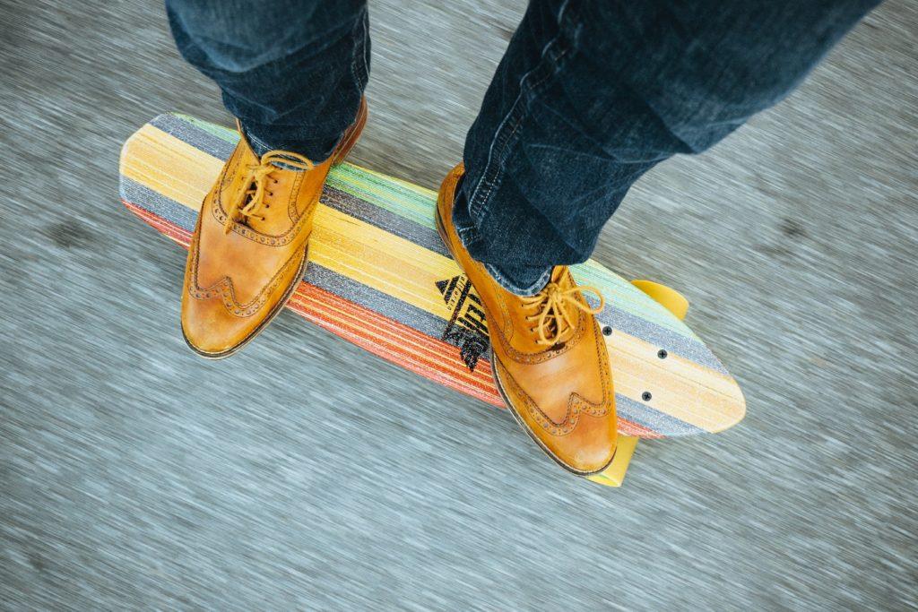 Buntes Longboard